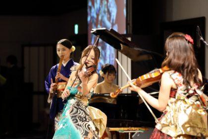 尺八、箏、ヴァイオリン、ピアノ、パーカッションでご依頼頂きました