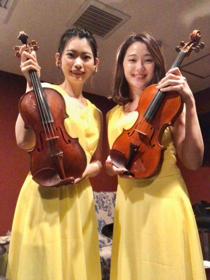 バイオリン二重奏で生演奏の御依頼でした