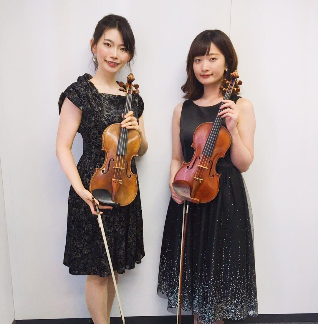 ヴァイオリン二重奏で生演奏の御依頼でした