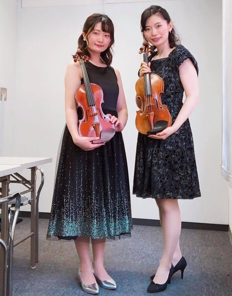 バイオリン二重奏で生演奏のご依頼でした