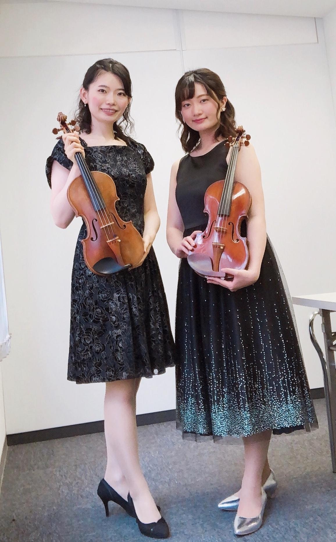 感染対策中でのイベントにてヴァイオリン生演奏でした