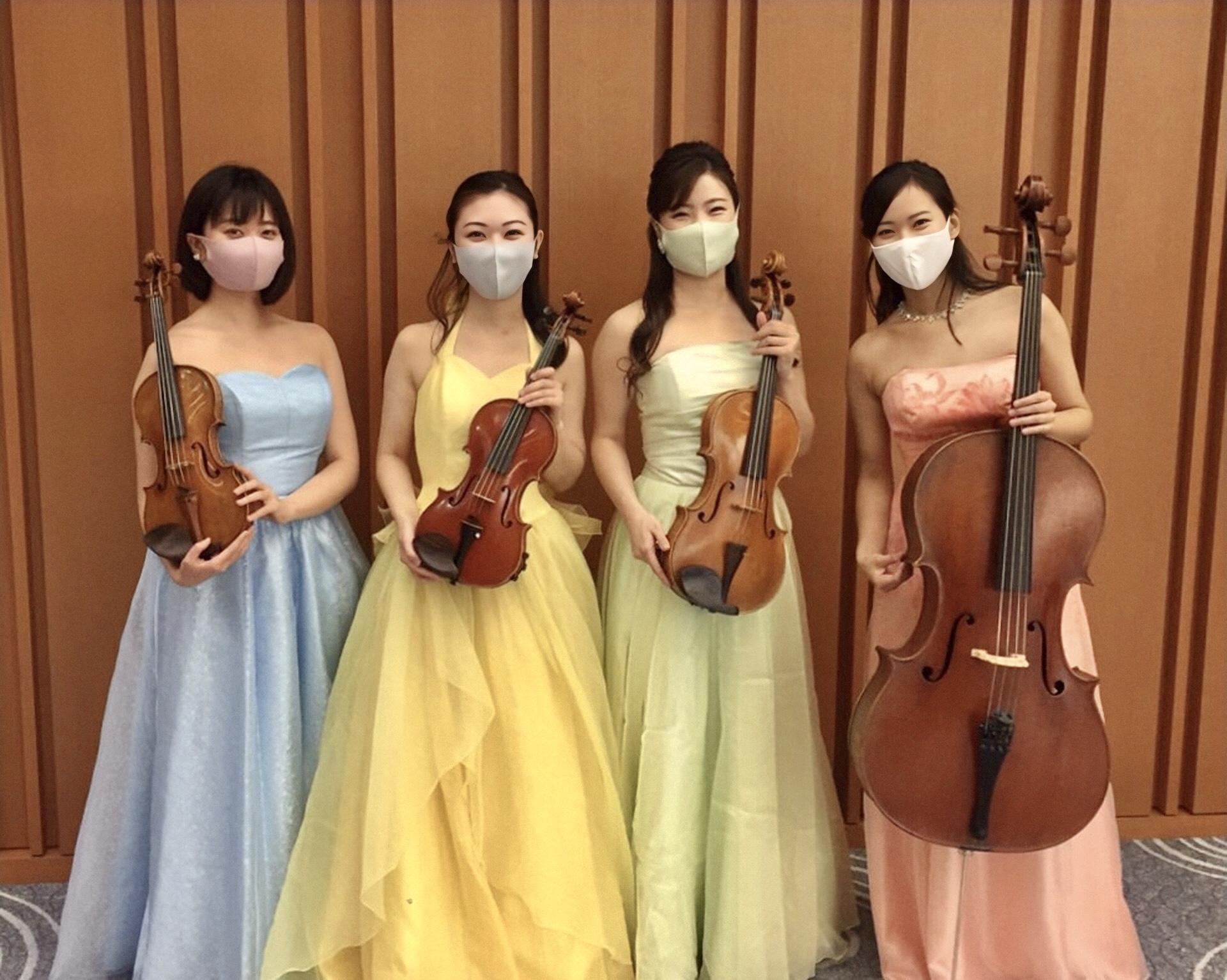 ヴァイオリン、ヴィオラ、チェロの4名編成でご依頼頂きました