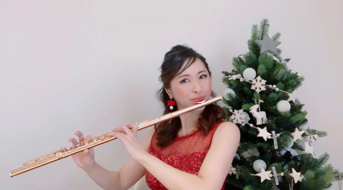 フルート奏者のテレワーク演奏でした