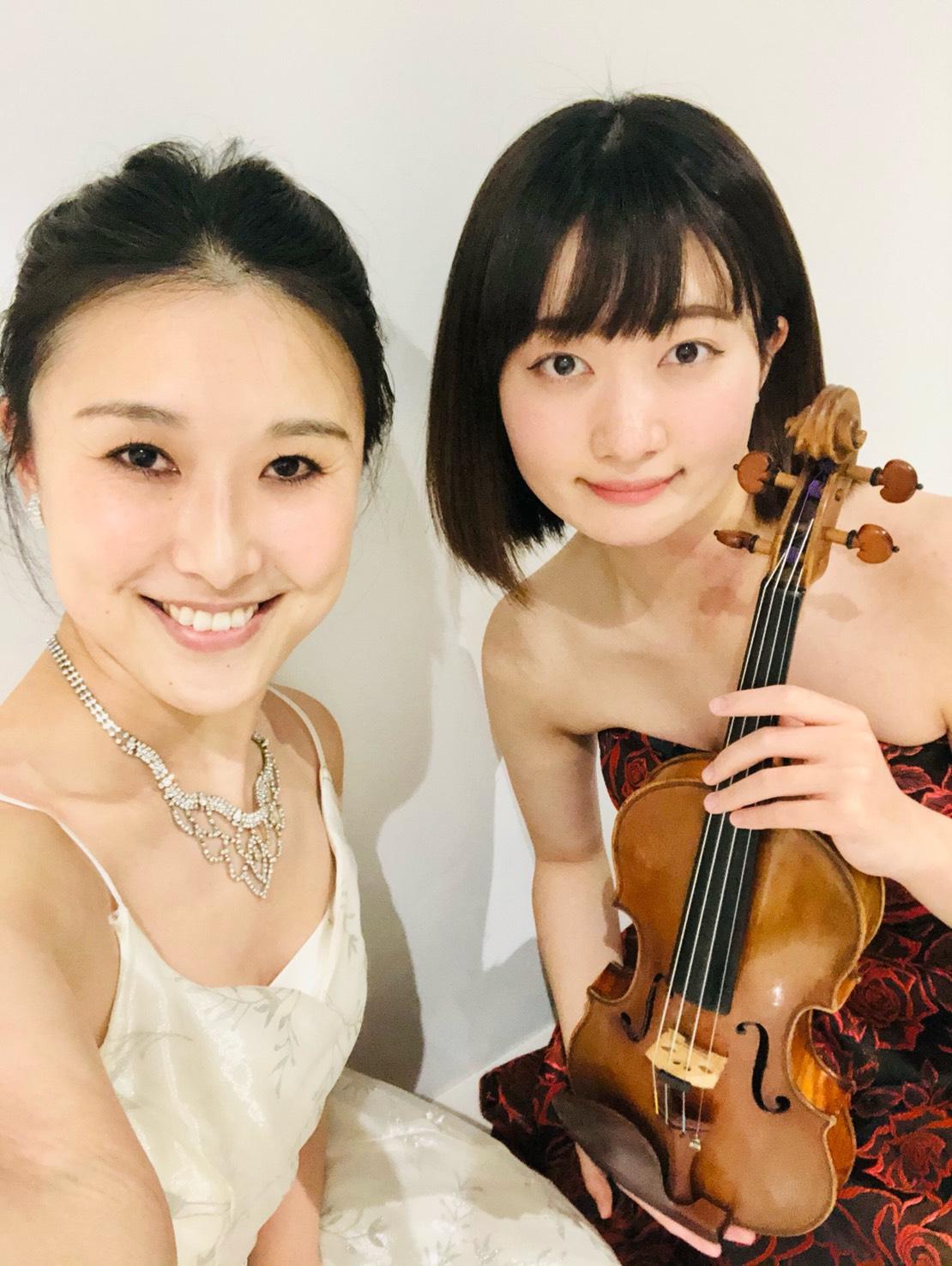 ヴァイオリンとハープの二重奏でのご依頼でした