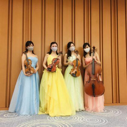 社員総会での弦楽四重奏演奏