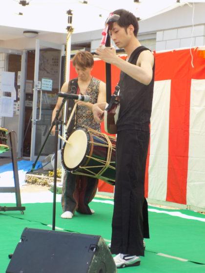 三味線と和太鼓の生演奏ライブでした