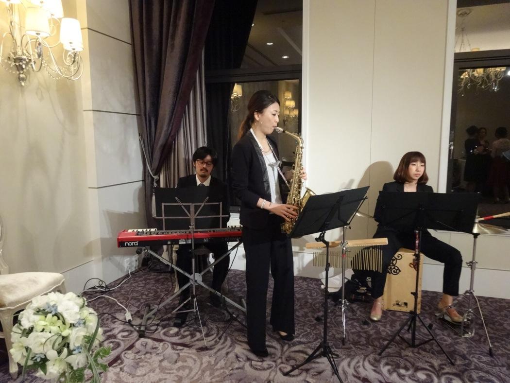披露宴にてジャズの生演奏のご依頼でした