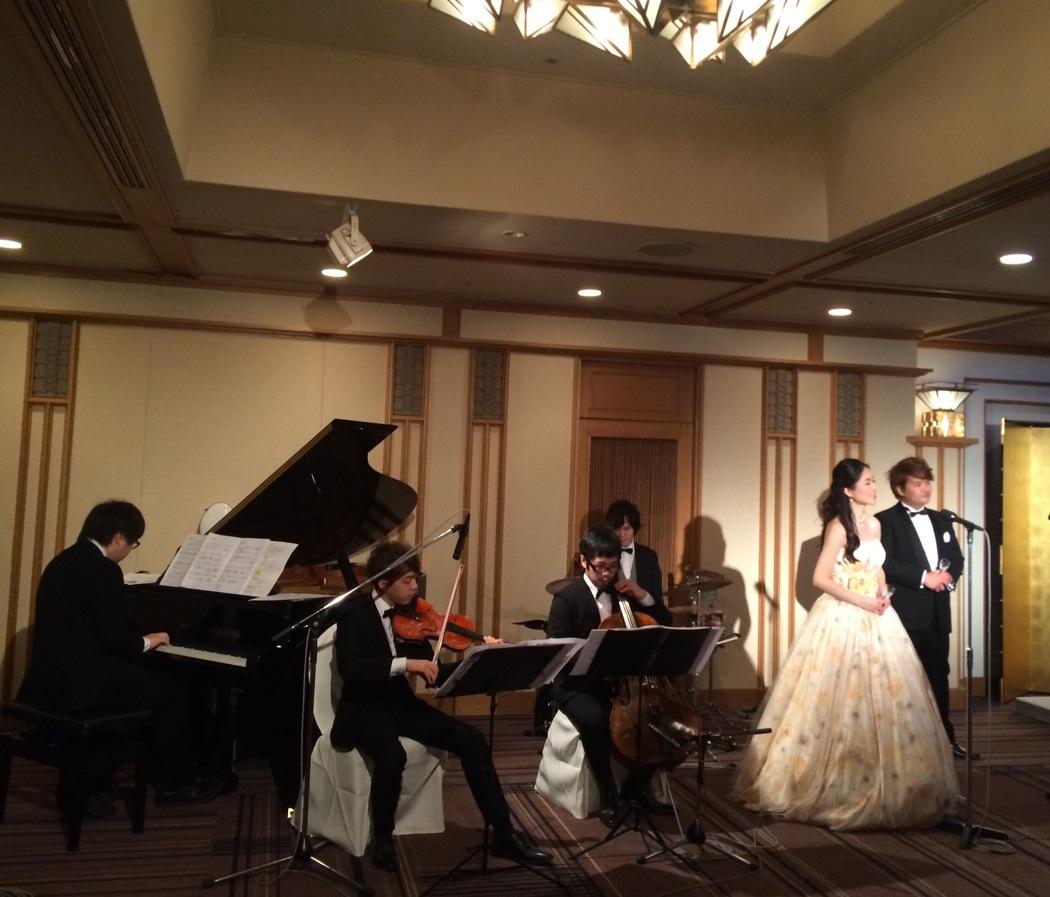 披露宴にてオペラの生演奏のご依頼でした
