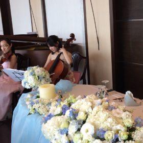 ご披露宴にて楽器の生演奏のご依頼でした