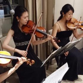 弦楽四重奏の生演奏のご依頼でした